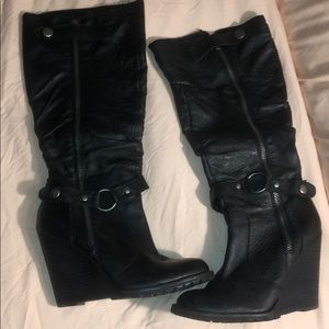 Bakers wedge boots